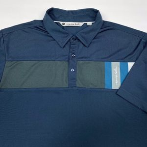 Travis Mathew Men's Short Sleeve Polo Size L Blue